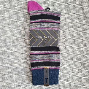 Ted Baker London stripe pattern socks